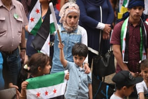 Ethnic Syrians at a rally in support of refugees and asylum seekers in Sydney