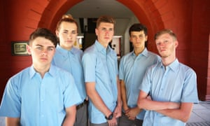 Five go to an Indian boarding school: (from left) Alfie, Ethan, Harry, Jake and Jack