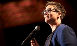 Hannah Gadsby in her show Nanette.