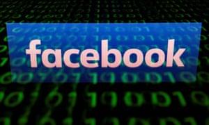 The logo of social media network Facebook.
