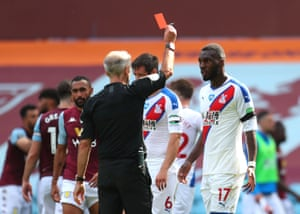 A last minute red card for Christian Benteke.
