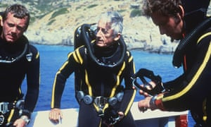 Jacques Cousteau and his dive team.