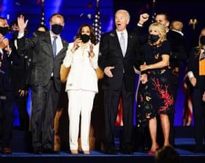 President-elect Joe Biden and Kamala Harris with their spouses.