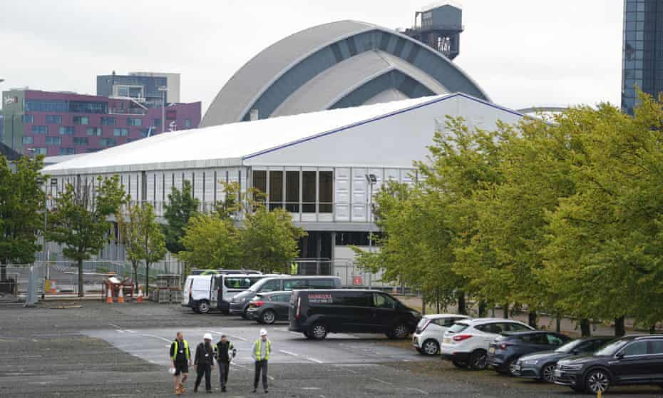 Preparations for Cop26 at the Scottish Event Campus in Glasgow.
