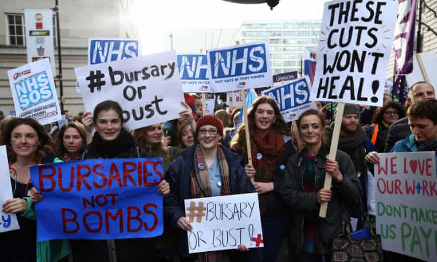 Demonstration And Rally Against Government Plans To Cut NHS Bursaries