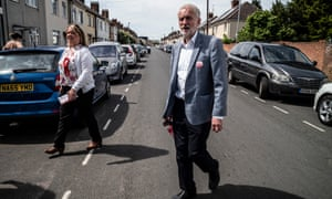 Jeremy Corbyn canvassing with the local candidate Lisa Forbes during the Peterborough byelection campaign.