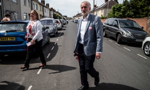 Jeremy Corbyn canvassing with Labour candidate Lisa Forbes in Peterborough
