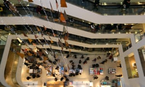 Shoppers in a John Lewis store.
