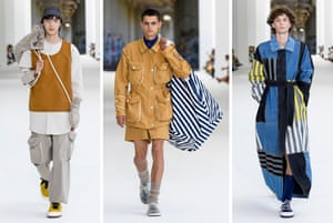 Models wearing Sunnei designs