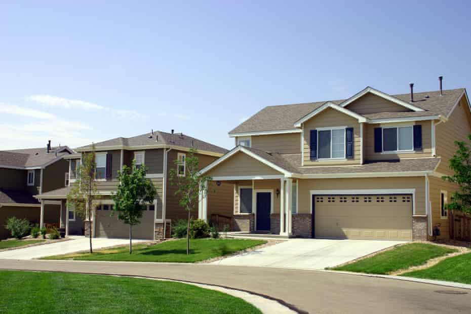 Quiet suburban neighborhood in Denver, Colorado.