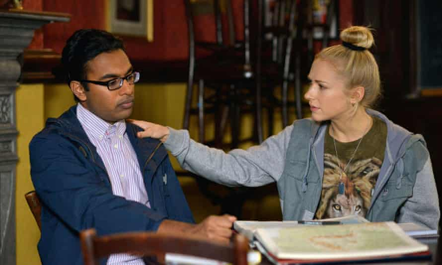 Himesh Patel with Maddy Hill in EastEnders.