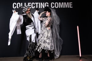 Richard Nylon and Bridie O'Leary at the National Gallery of Victoria's fashion exhibition Collecting Comme