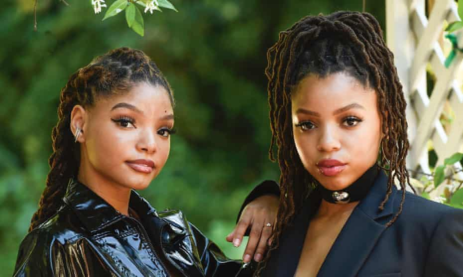 Halle and Chloe Bailey of sister duo Chloe X Halle.