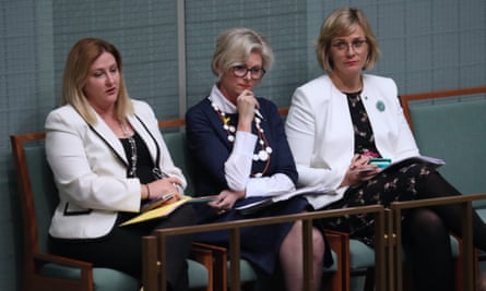 Independent MPs Rebekha Sharkie, Helen Haines and Zali Steggall