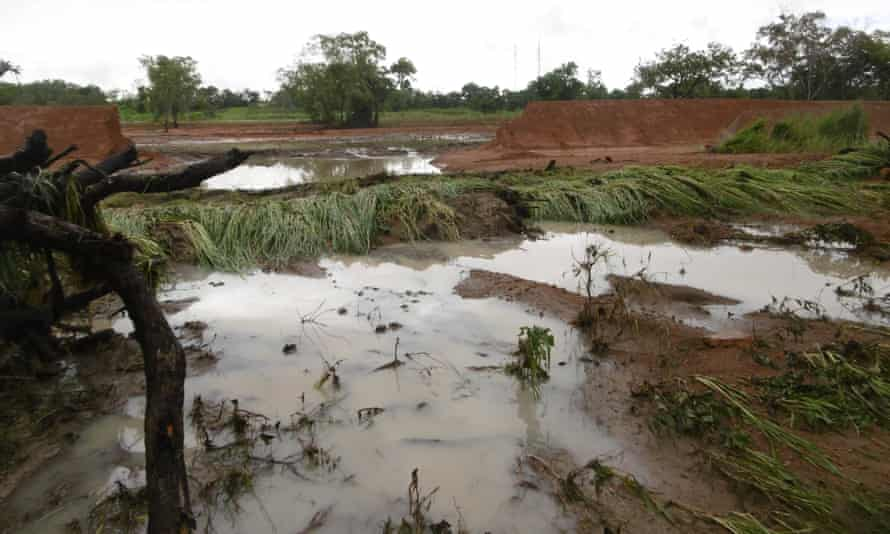 The wastewater basin at Glencore UK's operations in Badila, southern Chad