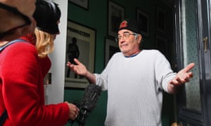 Danny Baker speaking at his London home after he was fired by BBC Radio 5 Live for tweeting a joke about the Duke and Duchess of Sussex's son using a picture of a monkey.