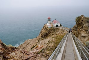 The historic lighthouse at the Point Reyes headlands