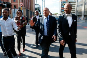 South African finance minister Pravin Gordhan in Pretoria today.