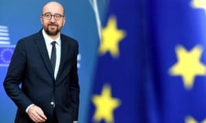 Belgian prime minister, Charles Michel