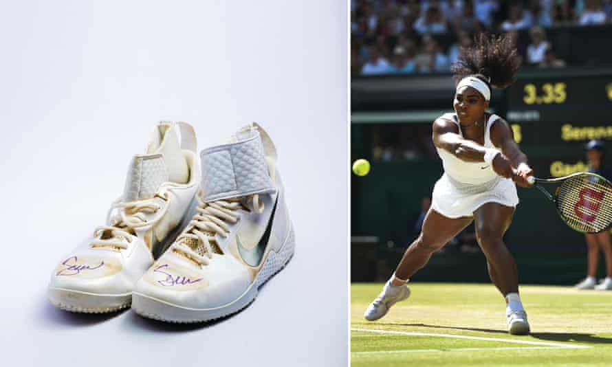 Serena Williams and her Nike Court Flares.