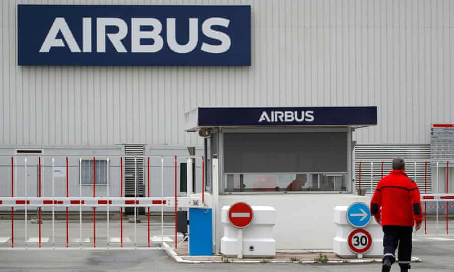 Airbus logo on facility in France