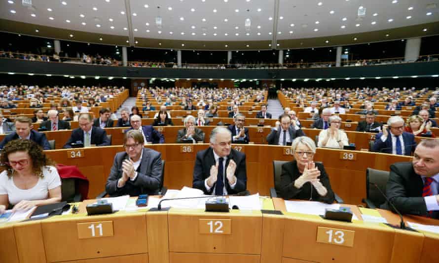 European parliament, Brussels.