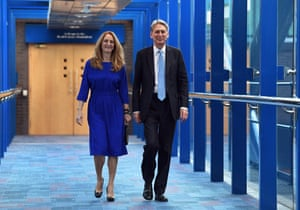 Philip Hammond and his wife, Susan Williams-Walker