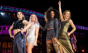 The Spice Girls at Wembley Stadium at the weekend