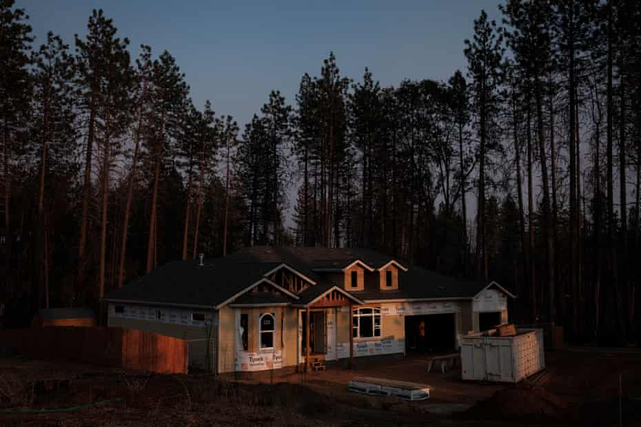 Homes are slowly being rebuilt in Paradise, California, seen here in September.