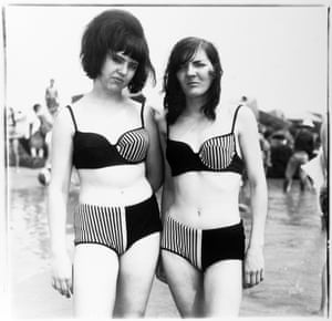 Two Girls in Matching Bathing Suits, Coney Island, New York, 1967
