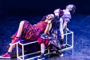 Jocasta Almgill (Anita), Frances Dee (Francisca) and Natalie Chua (Consuelo) in West Side Story.