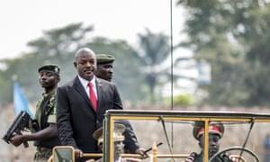 Burundi's president Pierre Nkurunziza in July.