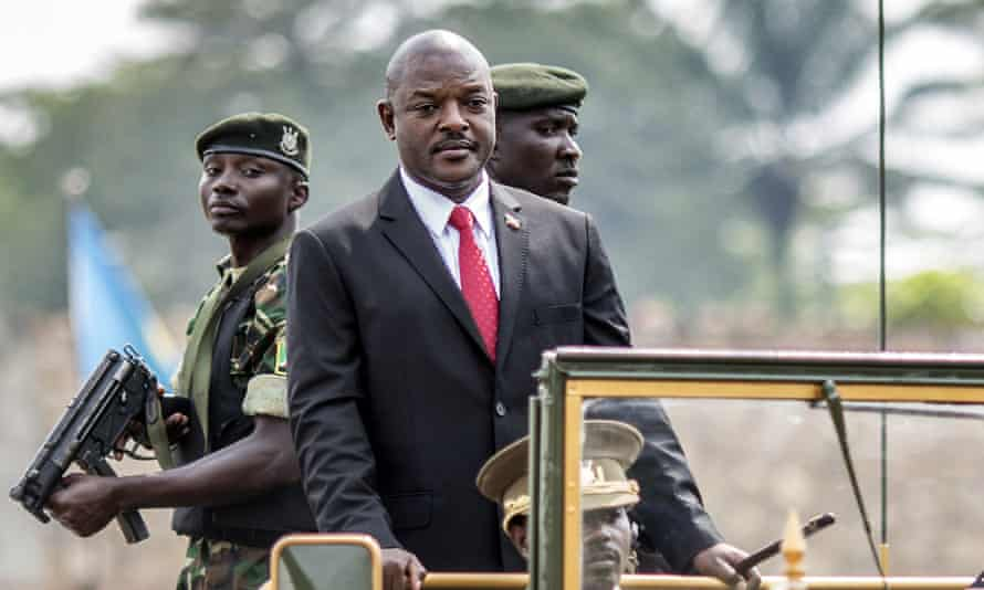 President Pierre Nkurunziza arrives at a ceremony in Bujumbura marking Burundi's Independence Day earlier this month. Six people were killed the same day in gun battles.