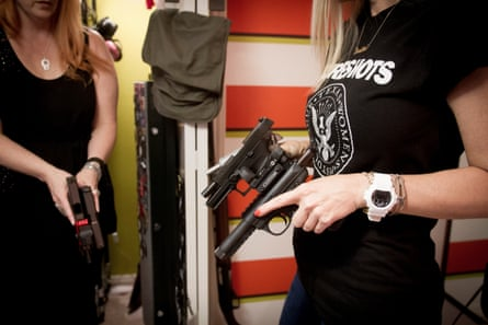 Each member of the Sure Shots club owns several automatic pistols and assault rifles.