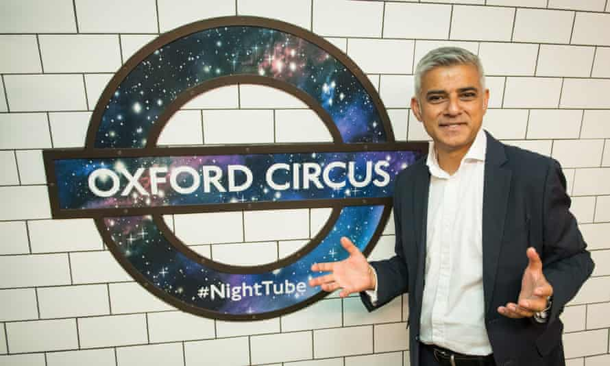 Night in shining armour: Sadiq Khan boasted about the new service launching in the week he spent his 100th day in office.