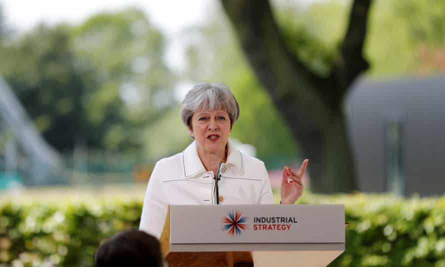 Theresa May speaking in Macclesfield