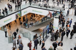 People arrive for the opening ceremony of the COP23 talks, which aim to meet the goals laid out in the Paris agreement two years ago.