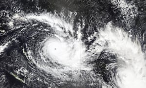 A satellite image released by NASA shows Cyclone Yasa over Fiji on 15 Dec 2020