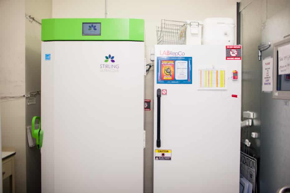 An ultra-cold freezer where the vaccines can be stored.