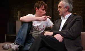 Eddie Redmayne and Jonathan Pryce in The Goat at the Almeida theatre, London, 2004.