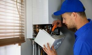 Gas heating boiler repair service