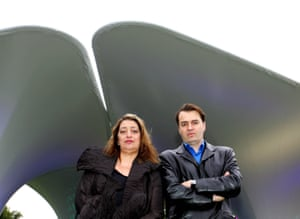 Patrik Schumacher with Zaha Hadid in front of their installation entitled Lila' at the Serpentine Gallery, London in 2007.