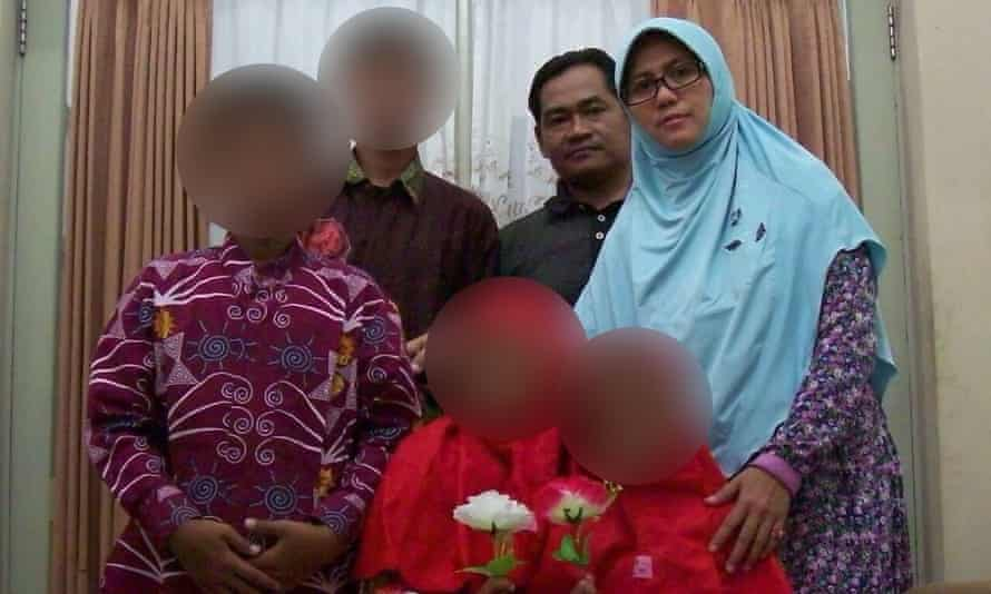 The family alleged responsible for the Surabaya church attacks in Indonesia.