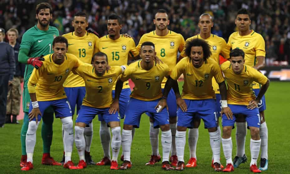 Brazil line up to face England at Wembley in November.