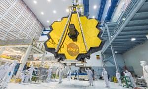 The James Webb Space Telescope under construction at Nasa.