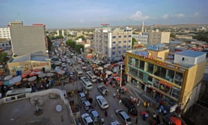 A general view of downtown Hargeisa.