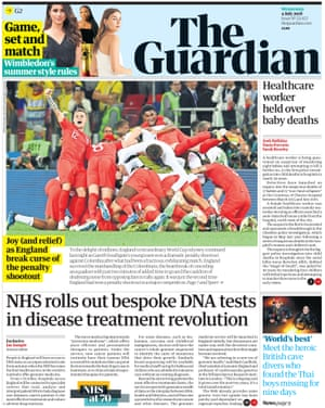 Guardian front page, Wednesday 4 July 2018