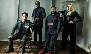 Charlie Walk, Sean 'Diddy' Combs, DJ Khaled, and Meghan Trainor from FOX's The Four.