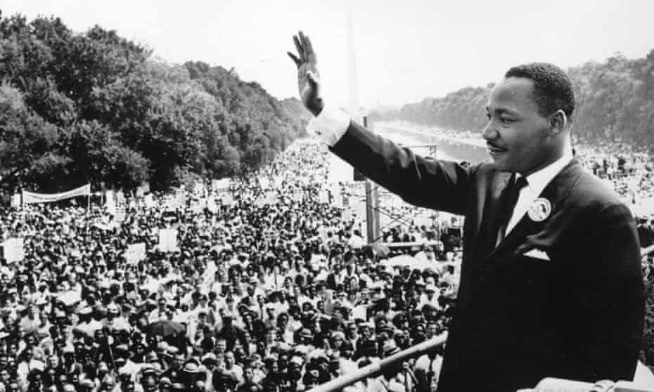 Dream SpeechBlack American civil rights leader Martin Luther King (1929 - 1968) addresses crowds during the March On Washington at the Lincoln Memorial, Washington DC, where he gave his 'I Have A Dream' speech. (Photo by Central Press/Getty Images)