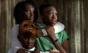Lupita Nyong'o, top left, with Evan Alex and Shahadi Wright Joseph in Us.
